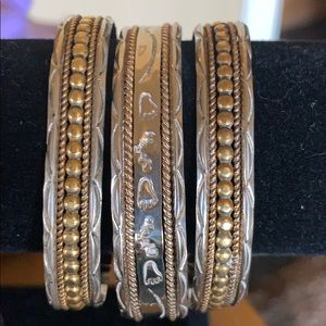 Jewelry - Silver and Gold Bracelet/Cuff Signed *R95